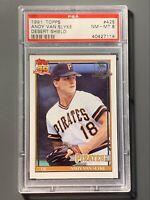 1991 Topps Desert Shield #425 Andy Van Slyke PSA 8 NM-MT Pittsburgh Pirates