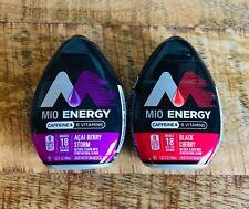 NEW MiO Energy Açaí Berry Storm + MIO Energy Black Cherry (2 Bottles Total)