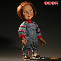 "NEW Mezco Child's Play Happy Good Guy Chucky Doll Mega Size 15"" Talking Figure"