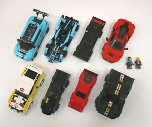 Lot Of 8 LEGO Cars Speed Champions Race Racing