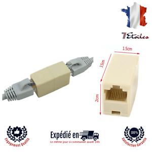 RJ45 Adaptateur Coupleur Rallonge Ethernet CAT5 Adapter Cable Cordon Reseau Inte