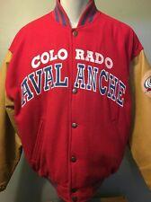 Vtg Colorado Avalanche Starter Stadium Letter Jacket Mens L Nhl Hockey Avs Coat