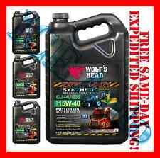 4 ONE GALLON WOLFS HEAD SYNTHETIC BLEND SAE 15W-40 HD DIESEL GASOLINE ENGINE OIL