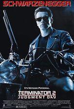 "TERMINATOR 2 JUDGEMENT DAY Movie Silk Fabric POSTER 11""x17"" Arnold Shwarzenegger"