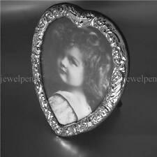 Victorian Antique Vintage Finish Fotorahmen massives 925 Sterling Silber