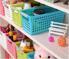 6 Pack Stackable Storage Baskets Organizer Bins Tray Home Kitchen Closet 3 Size