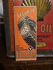 BF Goodrich Tire Rare Euro Cardstock Bookmark - Tyre Pneu Rubber Sign Tin Gas