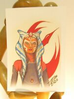 AHSOKA  TANO ACEO Print Card By Phil Born Star Wars The Clone Wars Jedi