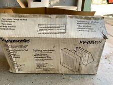Panasoniv FV-08WQ1 Whisper Wall through wall ventilator.