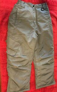 EUC ATHLETECH Boys/Girls Large 10/12 Gray 100% POLYESTER Snow Pants ZIPS ON LEG