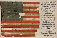 The Star Bangled Banner Francis Scott Key American Flag Fort McHenry MD Postcard