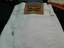 White MENS LEVIS 514 STRAIGHT JEANS STRETCH  WHITE