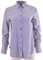 J. CREW Womens Shirt US 6 Medium Blue Cotton  GY02