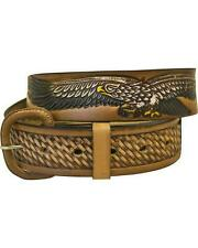 """WESTERN EXPRESS BELT XM-226 BROWN Leather- Eagle-Round Conchos 1.5"""" wide SIZE 42"""