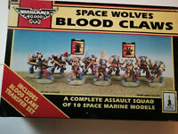 Warhammer 40K Space Wolves Blood Claws Assault Squad OOP Metal & Plastic 1992