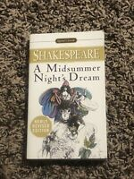 """A Midsummer Night's Dream By W. Shakespeare (paperback book - 1998). 7"""" X 4"""""""