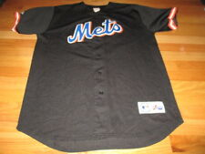 Majestic NEW YORK METS Button-Down (XL) Mesh Jersey