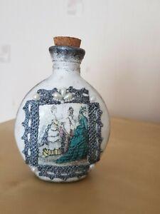Shabby chic bottle,vintage 100 ml, perfume, Mother's Day, cork tops handmade
