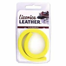 Licorice Leather Genuine Real Leather Cord 10 x 7mm 25cm Bright Yellow