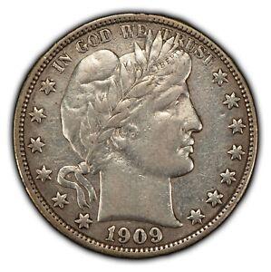 1909 50c Silver Barber Half Dollar - XF Dets - SKU-B1391