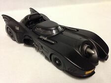 "1989 Batman Batmobile METALS, 9"" Die Cast Car 1:24 Scale Jada Toys Black"