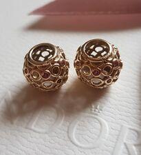 genuine Pandora 14ct 14k Gold Pink Topaz Celtic Circles Charm 750811TPK