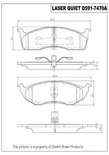 Disc Brake Pad Set-Laser Quiet Metallic Pads Front Pronto LMD591