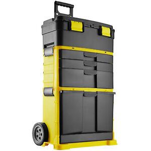 XXL Werkzeugtrolley leer Werkzeugkoffer mit Schubladen & Rollen Werkzeugbox neu