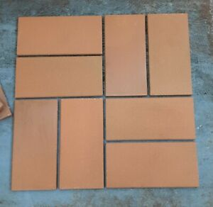 Werkstattfliesen, Spaltklinker rotbunt unglasiert 24x11,5x1cm, R11/B, Abr. 5