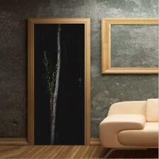Dark Woods in the Middle Night Self-Adhesive Bedroom Door Mural PVC Door Sticker
