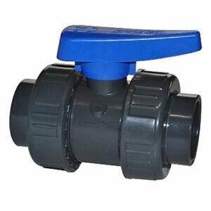 Valvola PVC incollaggio PVC rubinetto femmina tubo acqua 16 20 25 32 40 50 63 mm