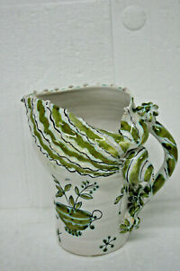 VINTAGE 5192 ITALY HAND MADE DECORATIVE WATER PITCHER unique design