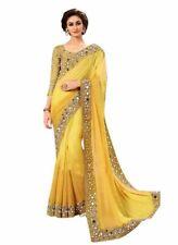 Indian Party Wear Sari Bollywood Pakistani Party Traditional Ethnic Mirror Saree