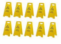10 Stück Warnschild-Vorsicht Rutschgefahr-Vorsicht Glatt-Warnaufsteller Schild