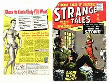 Vintage covers only to STRANGE TALES #62 - April 1958 - Silver Age Marvel