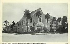 Postcard Union Building University Of Florida Gainesville FL Alachua County