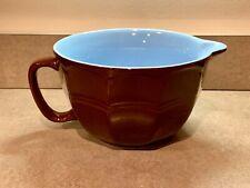 Lindt Chocolatier Chocolate 2Qt 2 Quart Handled Pour Mixing Bowl Brown / Blue