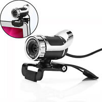 USB HD Camera Video Webcam 360° W/Mic Clip-on for Skype Computer