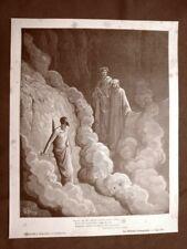 Incisione Gustave Dorè 1890 Dante e Marco Lombardo Divina Commedia Purgatorio