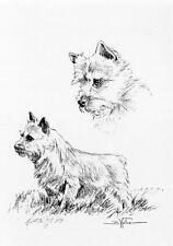 Norwich Terrier Open Edition Art Print by Usa Artist Barbara Walker*
