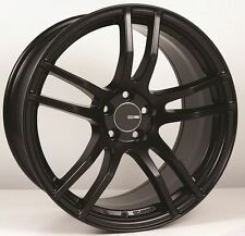 18x9.5 Enkei TX5 5x114.3 +30 Black Rims Fits Veloster Mazda Speed 3