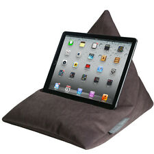 iPad Tablet e-Reader Kindle Telefon Bean Bag Kissen Ständer Samt Braun
