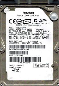 Hitachi HTS543225L9A300 P/N: 0A57345 MLC: DA2387 250GB