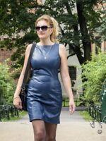 Lederkleid Leder Kleid Blau Minikleid Maßanfertigung