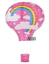 Fuchsia Pink Rainbow Hot Air Balloon Paper Lantern Birthday Party Wedding Decor