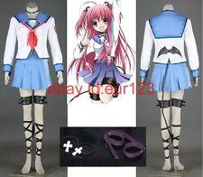 Angel Beats! Yui Cosplay Costume Custom