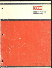 1972 J I CASE PARTS MANUAL 580 CONSTRUCTION KING  FORK LIFT / Catalog no. 1175