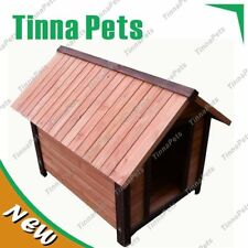BRAND NEW Large Size 111*84*86cm Classic Log Cabin Timber Dog Kennel House P014