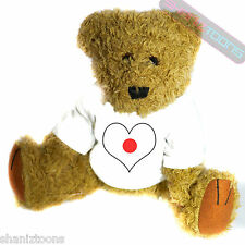 Japan Love Heart Flag Mascot Novelty Gift Teddy Bear