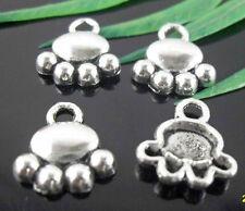 Free Ship  50Pcs Tibetan Silver Bear Paw Charms 14x12mm